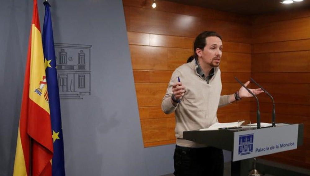 Pablo Iglesias en Moncloa