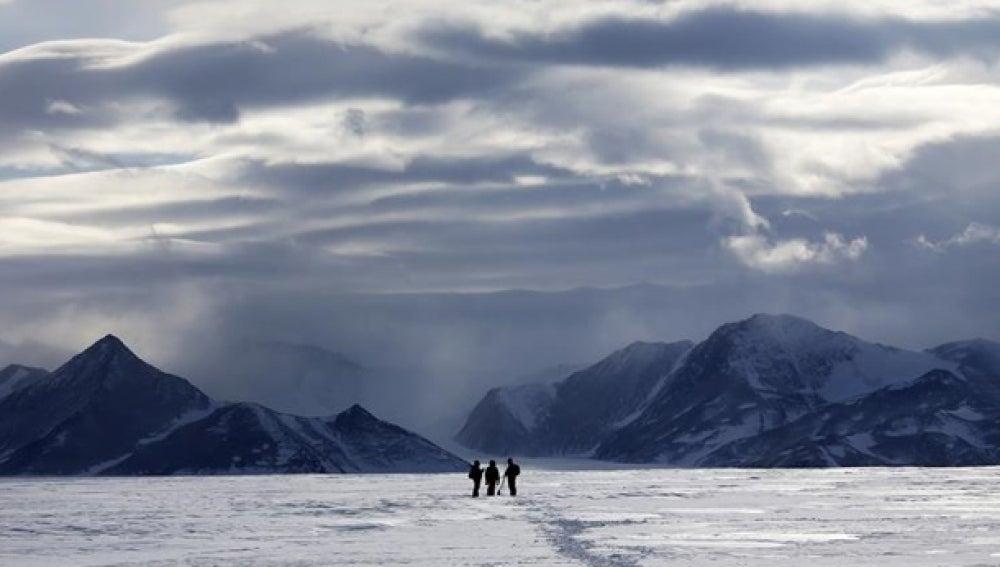 Imagen de glaciares en La Antártida