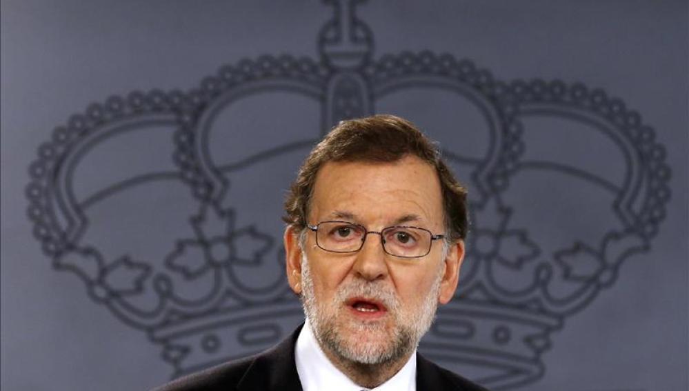 Mariano Rajoy, en la rueda de prensa tras el Conejo de Ministros