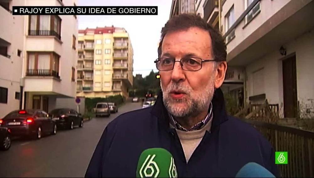 Rajoy habla con laSexta