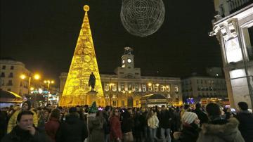 Imagen de archivo de la celebración de las preuvas en la Puerta del Sol