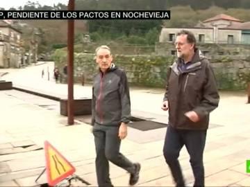 Mariano Rajoy, en un paseo por Pontevedra