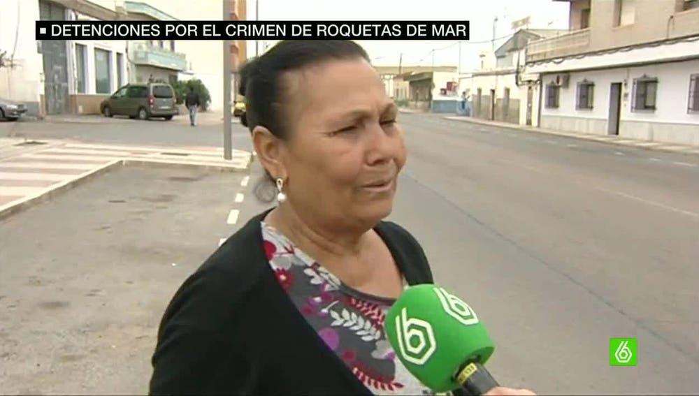 Abuela de los detenidos en Roquetas de Mar