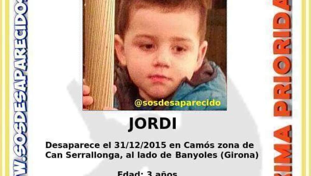 Imagen del niño desaparecido difundida por la policía