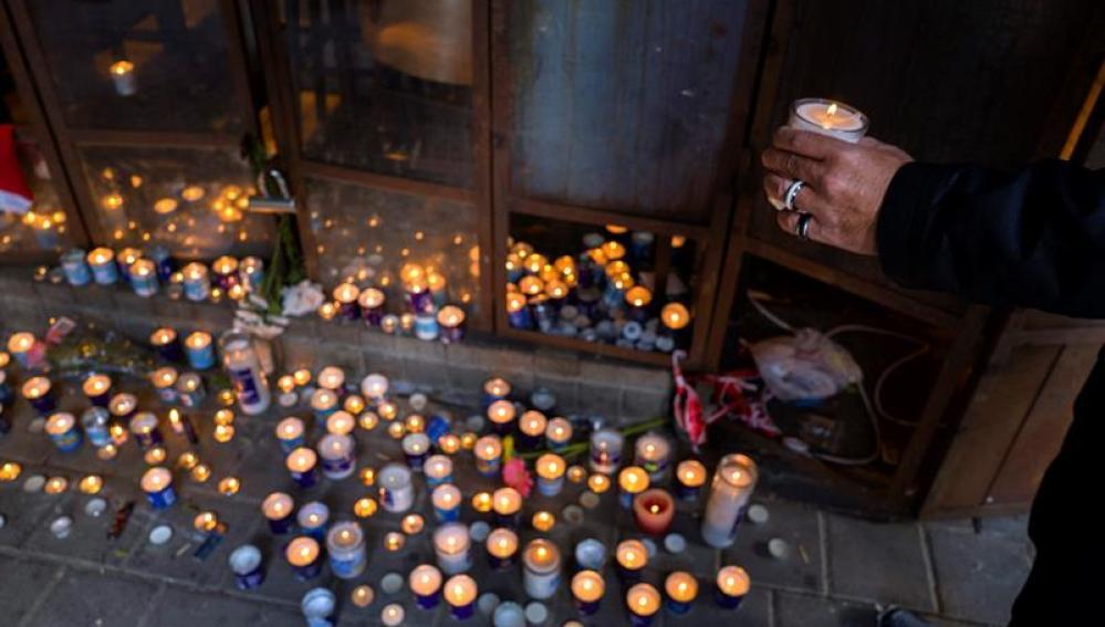 Homenaje a las víctimas del ataque en Tel Aviv