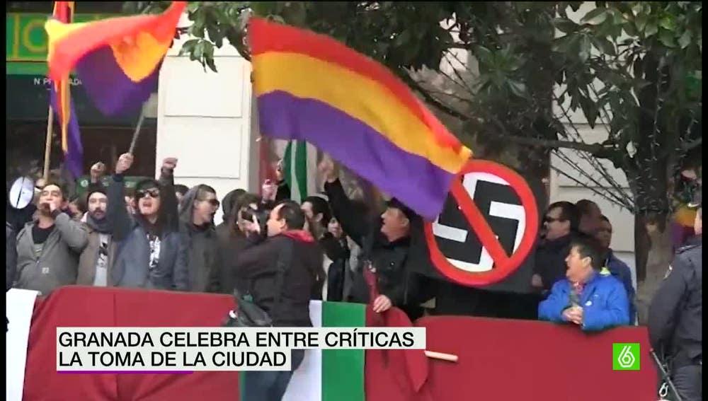 Manifestación en contra de la Toma de Granada