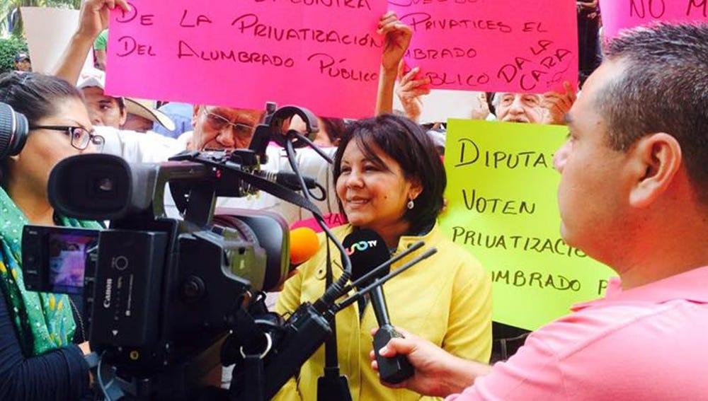 La alcaldesa del municipio mexicano de Temixco, Gisela Mota, del Partido de la Revolución Democrática