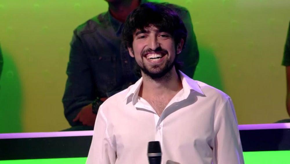 Alejandro García, ganador del público con 72 de 100 puntos
