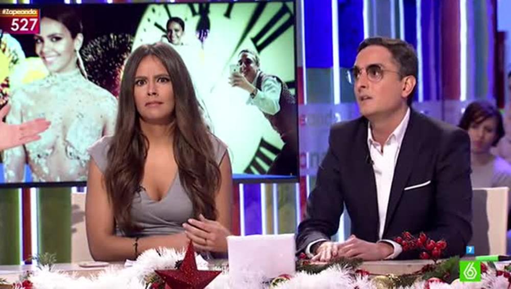 Cristina Pedroche y Josie comentan el vestido de Nochevieja de la zapeadora