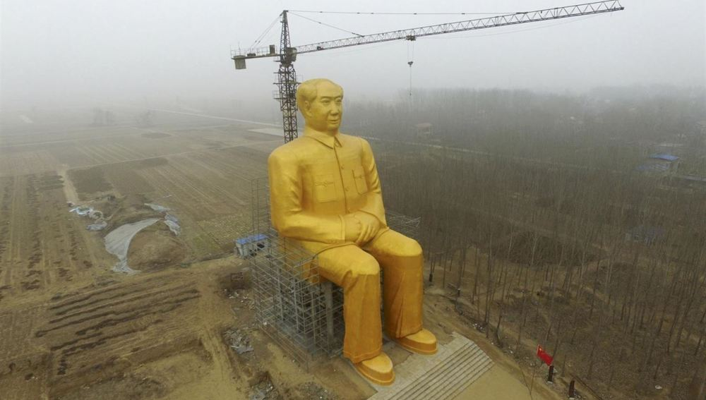 Estatua de Mao Zedong en China que ha generado la polémica