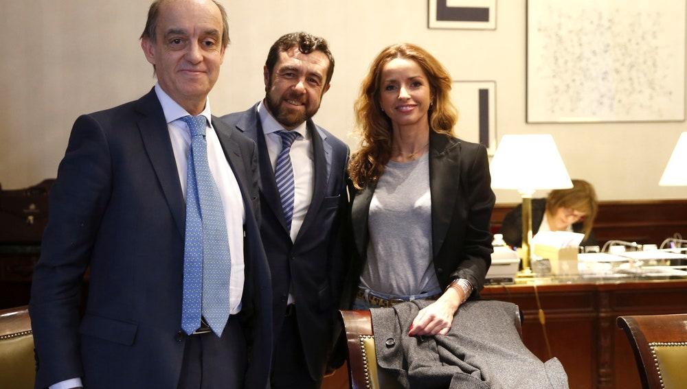 Los diputados de Ciudadanos, Fernando Maura, Miguel Gutiérrez y Patricia Reyes
