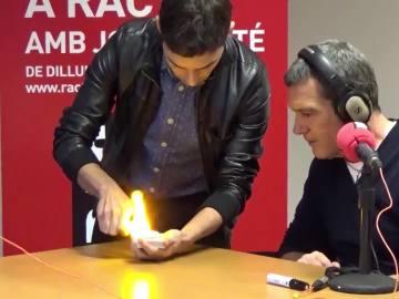 Antonio Banderas con El Mago Pop, en La Gran Ilusión