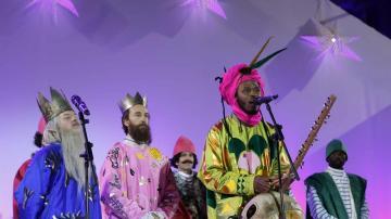 Los Reyes Magos en la cabalgata de Madrid de 2016