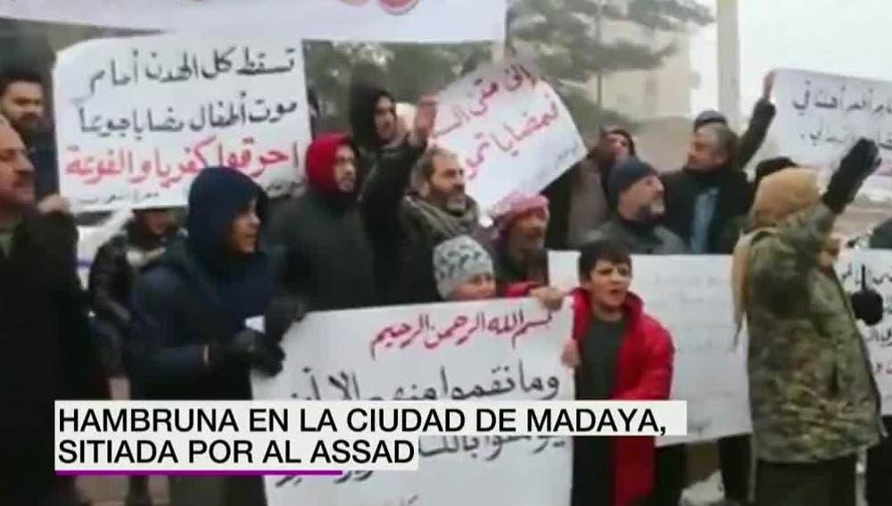 La hambruna se expande en Madaya, ciudad siria sitiada por Al Assad
