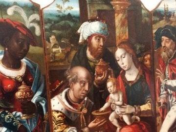 El cuadro de un artista anónimo que muestra a una Reina Maga negra