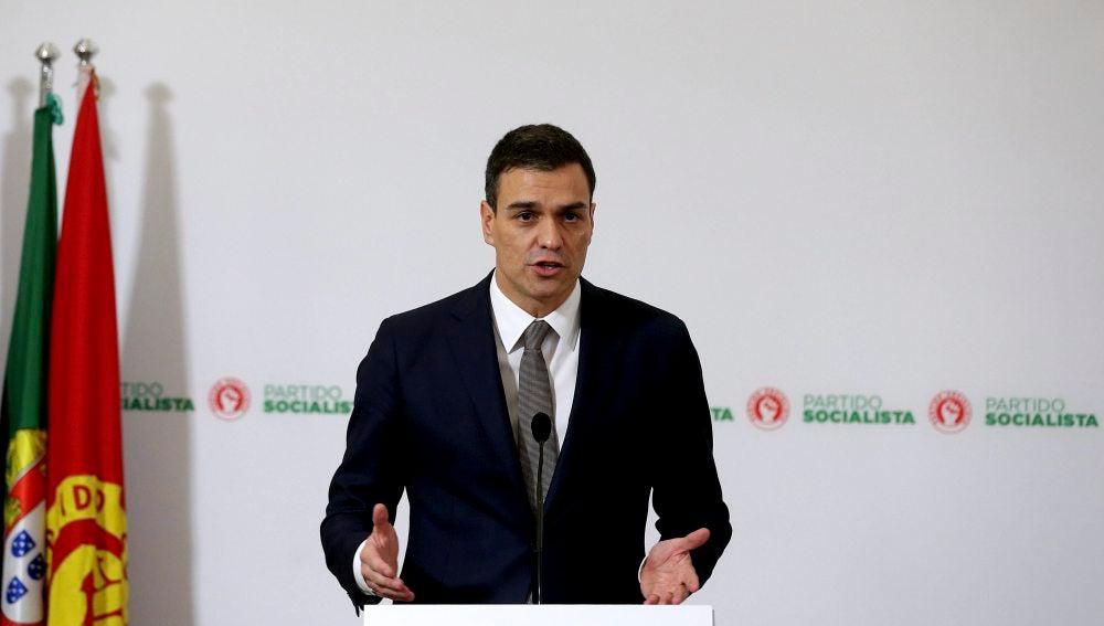 Pedro Sánchez, tras su reunión con Antonio Costa, presidente de Portugal