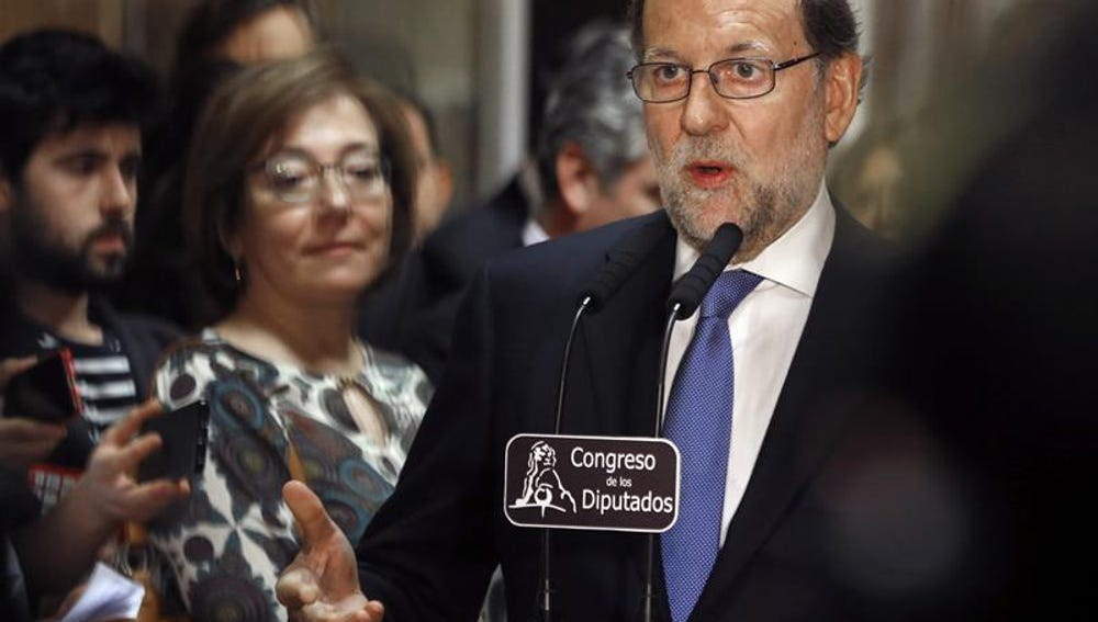 El presidente del Gobierno en funciones y líder del Partido Popular, Mariano Rajoy