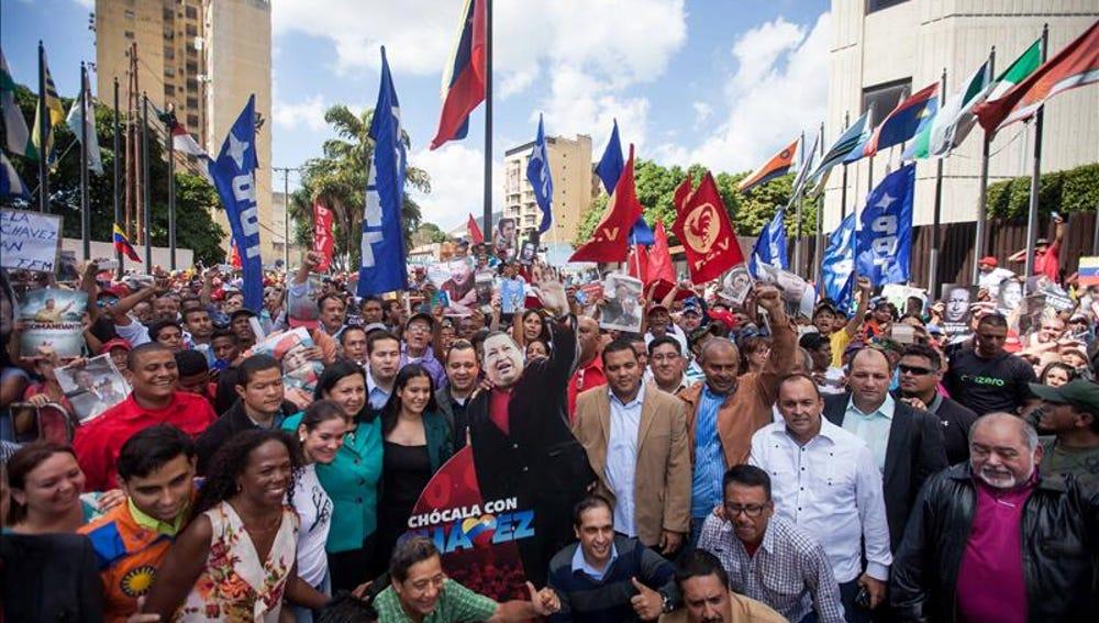 Protestas en Venezuela de seguidores chavistas