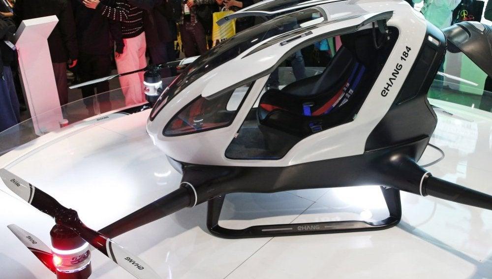 Presentación del dron Ehang 184 en Las Vegas