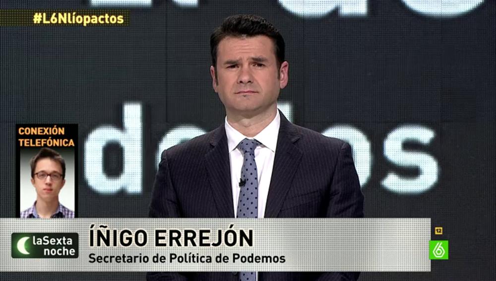 Íñigo Errejón llando a laSexta noche