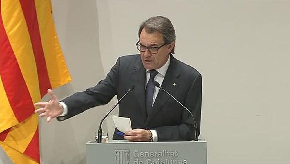 Comparecencia de Artur Mas después de reunirse con la cúpula de CDC