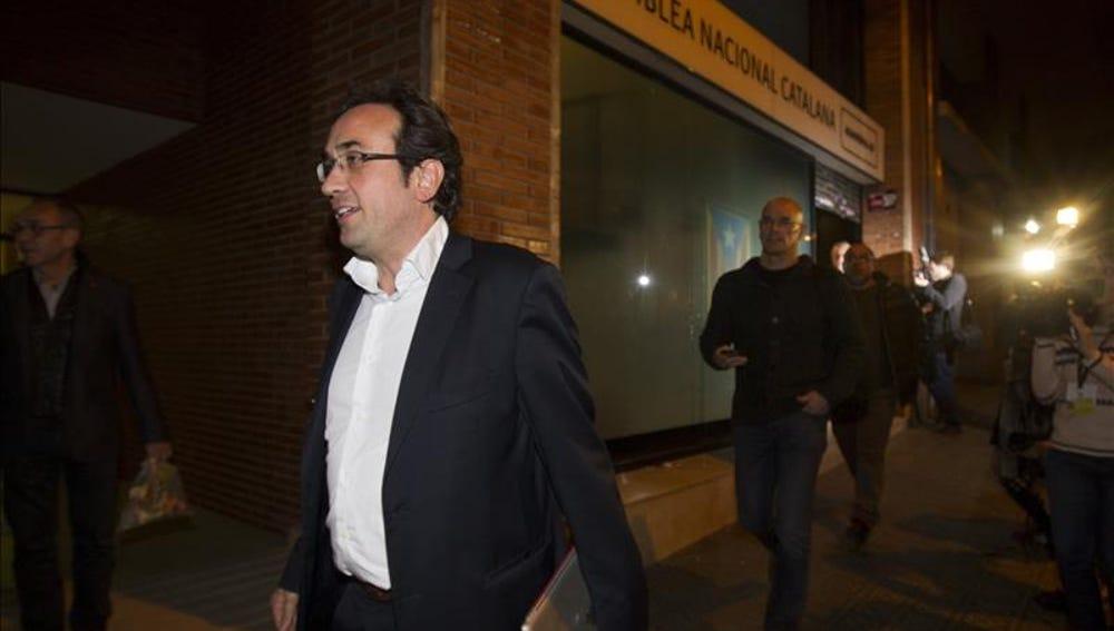 Los dirigentes de Junts pel Sí, Josep Rull  y Raül Romeva
