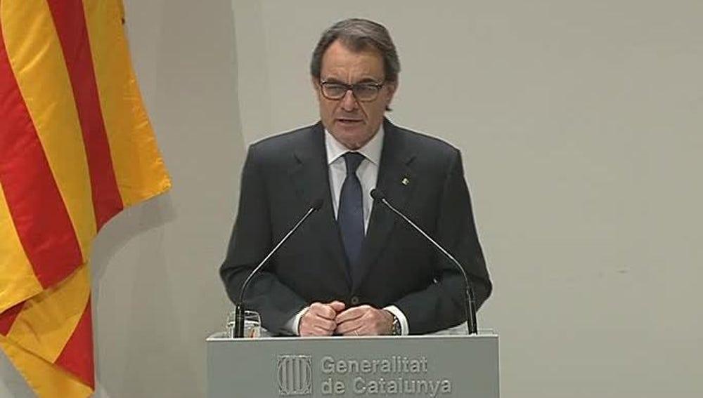 Declaraciones de Artur Mas en rueda de prensa