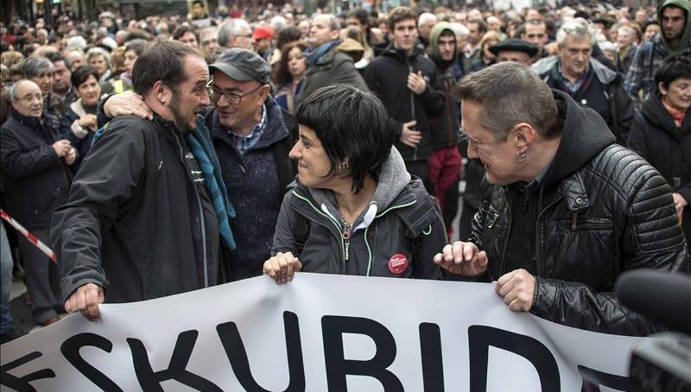 Manifestación a favor del acercamiento de los presos de ETA a l País Vasco