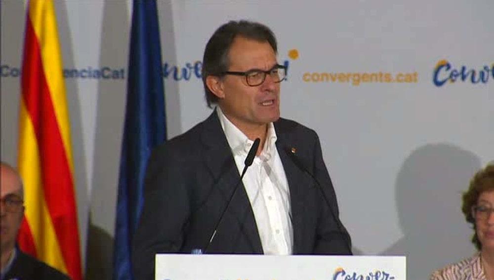 Artur Mas en el Consejo Nacional de CDC tras anunciar su renuncia