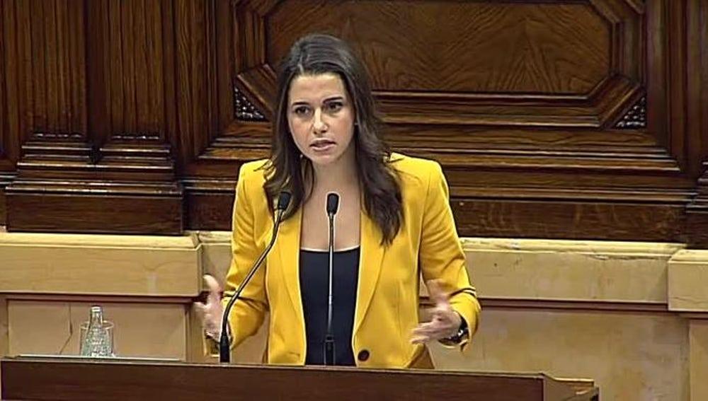 Inés Arrimadas comparece en el pleno de investidura