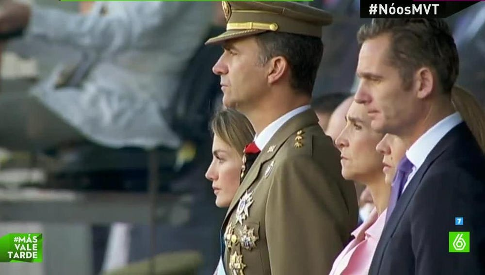 Familia Real, durante el desfile tradicional