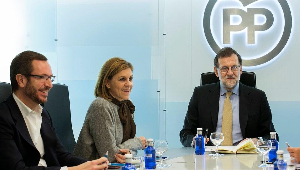 Mariano Rajoy, durante la reunión del comité de dirección del partido