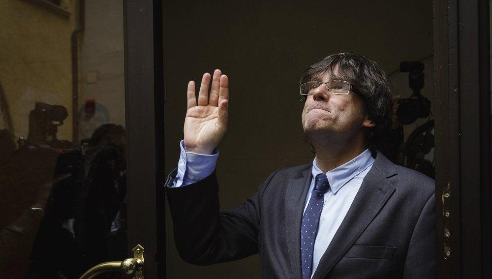 El nuevo presidente electo catalán, Carles Puigdemont