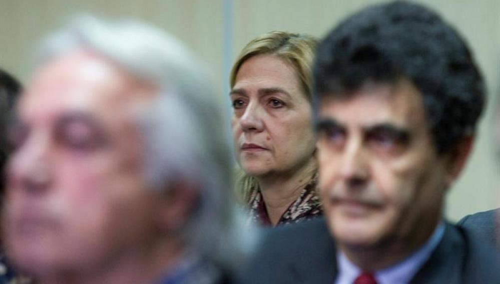 La infanta Cristina en el banquillo de los acusados