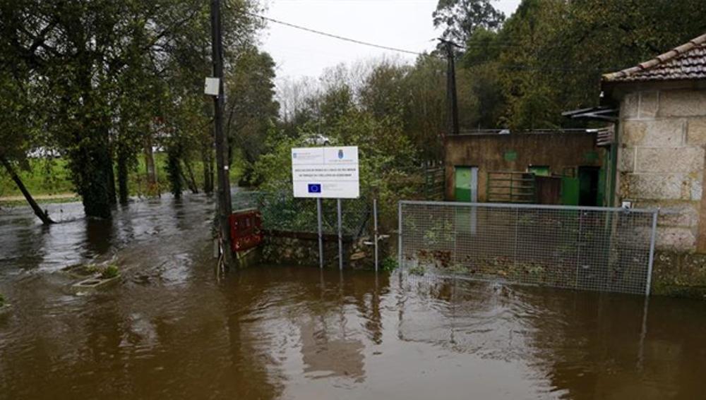 Inundaciones en la zona del Ayuntamiento de Gondomar