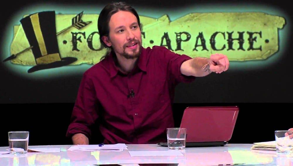 Pablo Iglesias en el programa Fort Apache