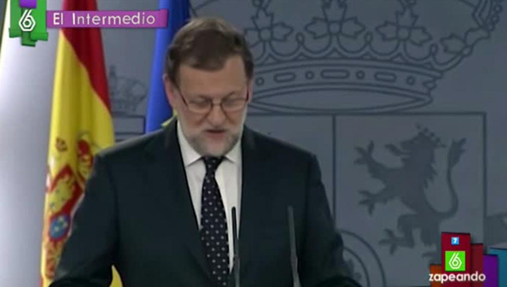 Mariano Rajoy, en un vídeo manipulado de El Intermedio