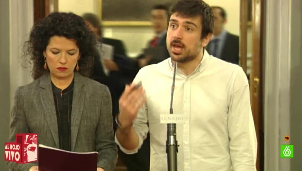 Ramón Espinar, senador de Podemos
