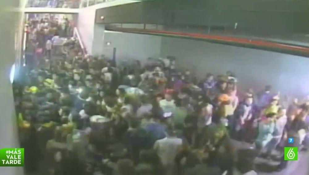 Tapón de personas en Madrid Arena