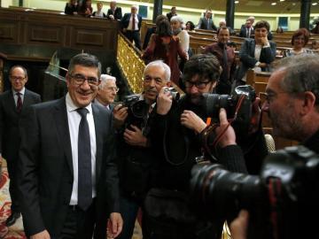 Patxi López, a su llegada al Congreso