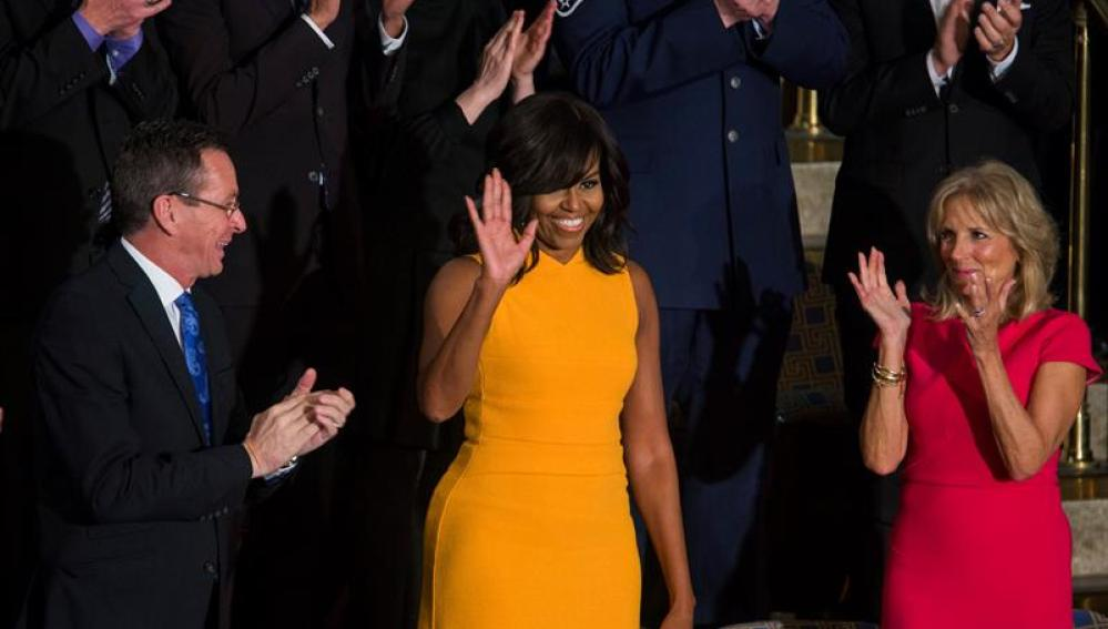 Michelle Obama luce su vestido en el discurso del Estado de la Unión