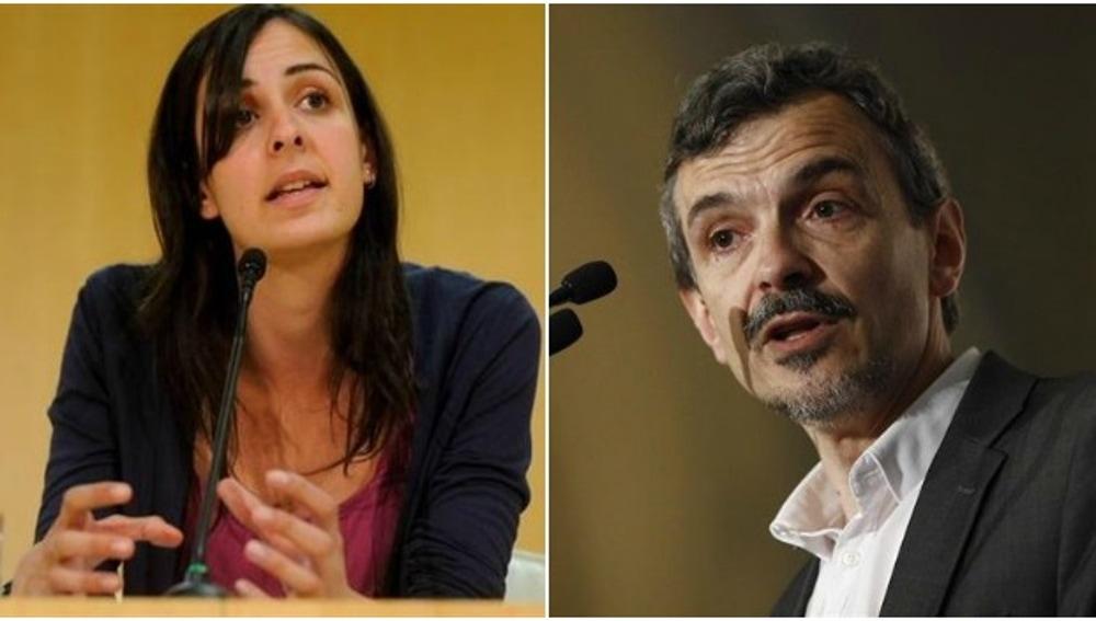 Rita Maestre y José Manuel López