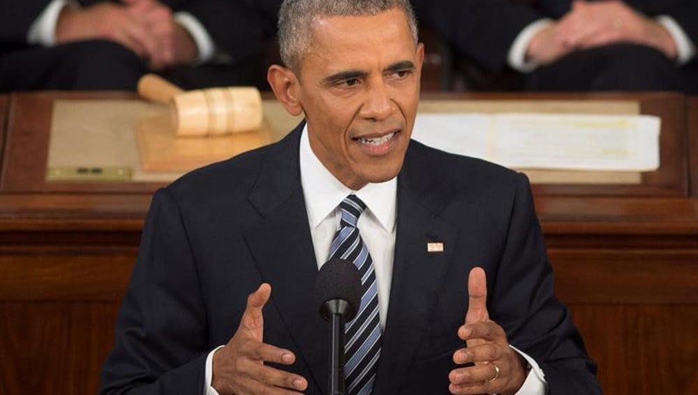 Barack Obama, durante un discurso del estado de la Unión