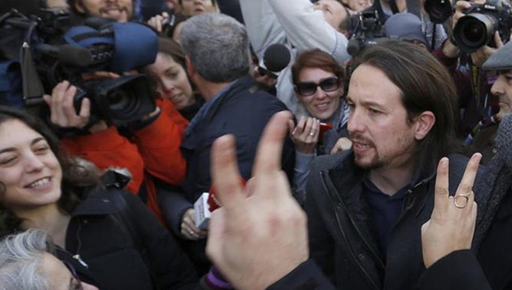 Pablo Iglesias a la salida del Congreso