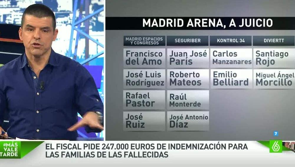 Manu Marlasca, sobre los acusados del Madrid Arena