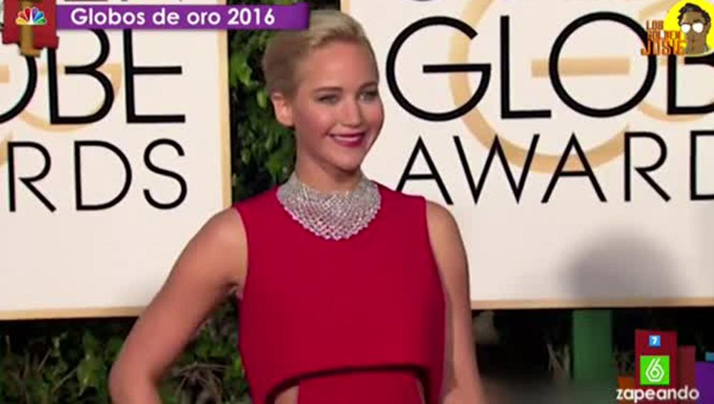 Jennifer Lawrence, en los Globos de Oro