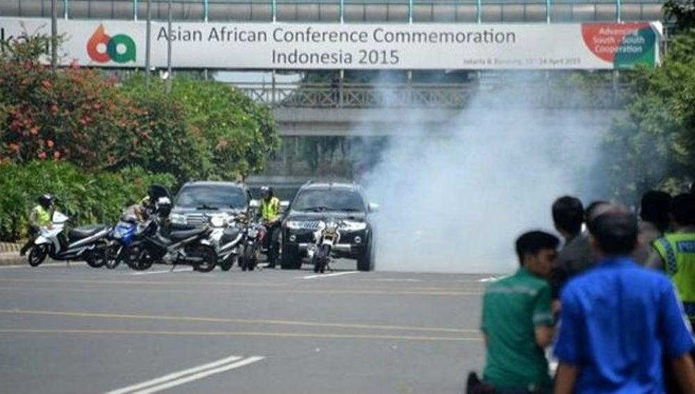 Un atentado azota el centro de Yakarta