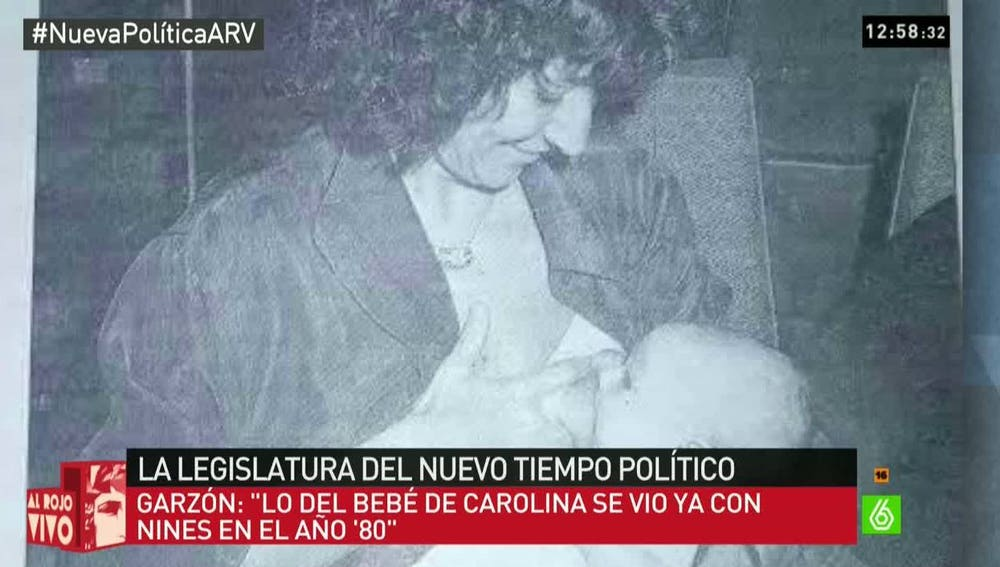 Nines Maestro, diputada de IU que amamantó a su bebé en el Congreso