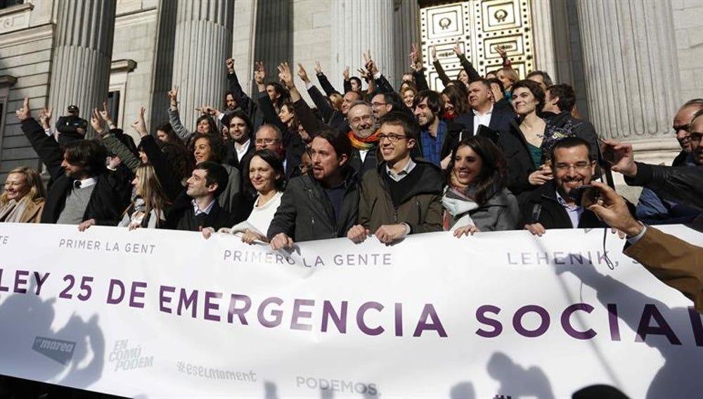 Los 69 dipitados de Podemos en el Congreso de los Diputados