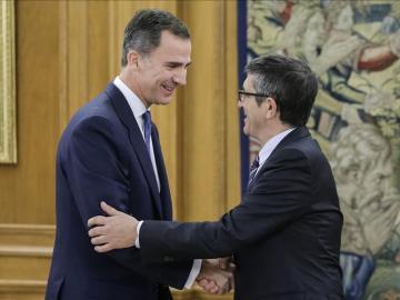Patxi López se reúne con Felipe VI en Zarzuela